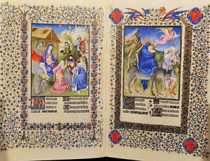 Book Illuminated Medieval Manuscripts Book Hours Psalter Bible God Color Plates