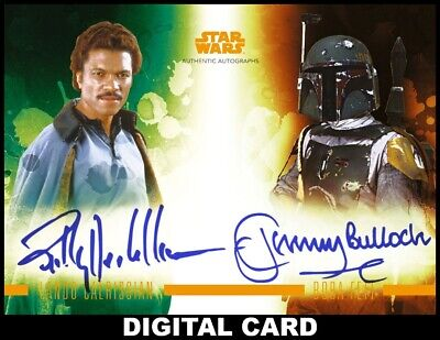 Topps Star Wars Card Trader STELLAR SIGNATURES ORANGE DUAL Lando/Boba Fett