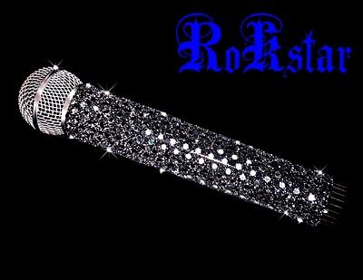 MICROPHONE COVER (ROKSTAR) SILVER SPARKLE MICROPHONE COVER FOR CORDLESS MIC (Microphone Glitter)