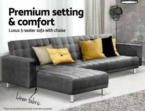 Corner Sofa Bed Couch Lounges Futon Suite Chaise Set Modular Seat