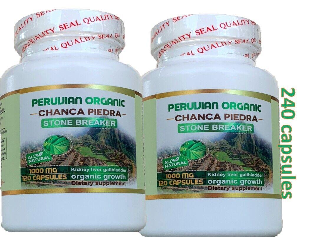 Chanca Piedra 2 Btl x 120 Caps (Peruvian material) Natural Kidney Stone Breaker 5