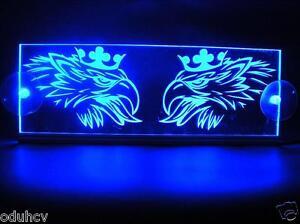 12v Led Interior Cabin Light Plate For Scania Truck Neon Illuminating Sign Blue Ebay