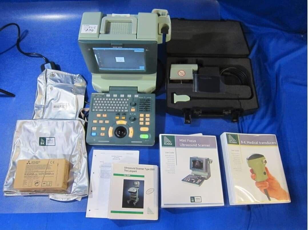 BK Medical Mini Focus 1402 PORTABLE Ultrasound & 8670 4-12 MHz Probe Transducer