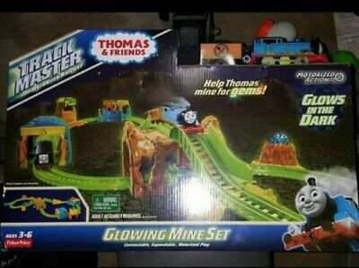 New Thomas & Friends Trackmaster Starter Glowing Mine Set Glows In Dark