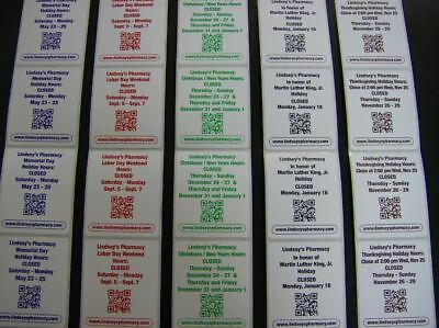 Custom Printed Labels 500 Rectangle 2.5 X 4 Business Stickers 1-color Ink