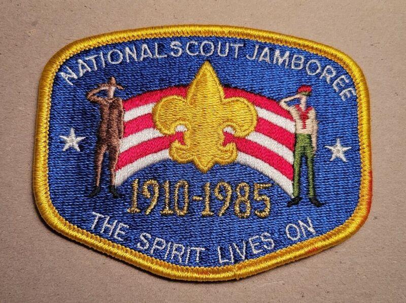 BSA NATIONAL SCOUT JAMBOREE 1910-1985 THE SPIRIT LIVES ON SHOULDER PATCH