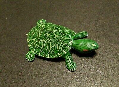 RARE Kaiyodo Choco Q Pet Animal 1 Baby Red Ear Slider Pond Turtle Figure