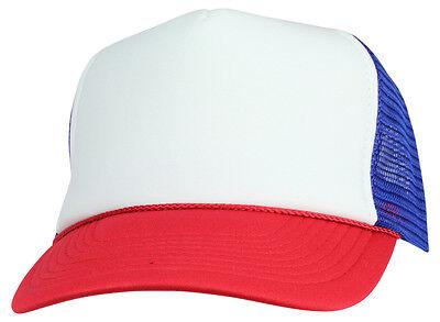 STRANGER THINGS Red White Blue Hat Trucker Cap 80s Adjustable Mesh Dustin