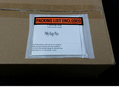 100 Packing List  Envelopes 4 1 2 X 5 1 2  Pouch Labels 4 Shipping Box Slips