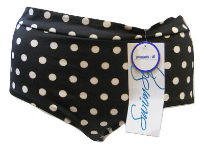 SHORE CLUB Women's Bikini Bottom Low Rise Fully Lined Black Polka Dot SIZE 18 ()