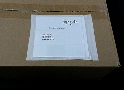 100 Clear Packing List 6 X 4 12 Envelopes Invoice Enclosed Label Slips