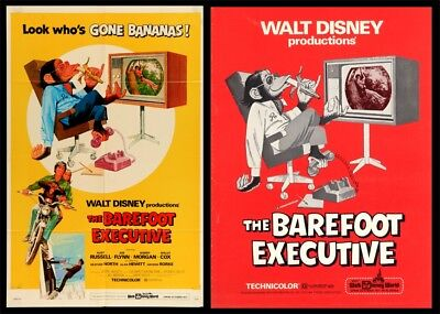 THE BAREFOOT EXECUTIVE pressbook AND POSTER, Walt DISNEY, Kurt Russell