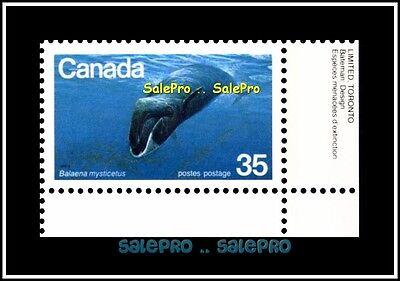 CANADA 1979 ENDANGERED WILDLIFE BALAENA MINT FV FACE 35 CENT MNH BR CORNER STAMP