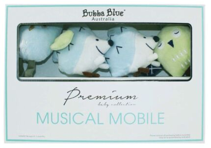 Bubba blue Baby boy owl musical mobile