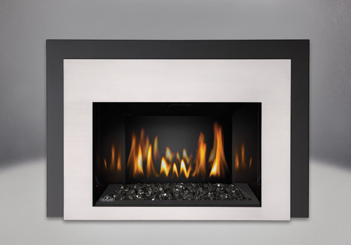 Ir3g Napoleon Gas Fireplace Insert Pkg As Pictured W Chrome