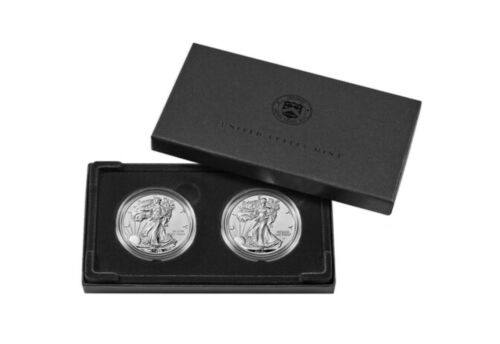 American Eagle 2021 One Ounce Silver Reverse Proof Two-Coin Set Designer Edition - $370.00