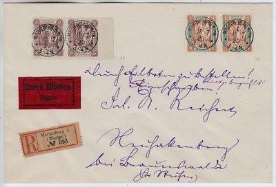 Marienwerder, Eil-R-Brief nach Braunswalde