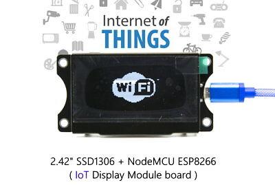 Iot Esp8266 Nodemcu 2.42 Ssd1306 Oled Display Module Board - White