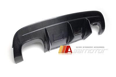 Carbon Fiber AKM Style Rear Bumper Diffuser 4 TIPS for BMW E71 X6 M X6M M Sport