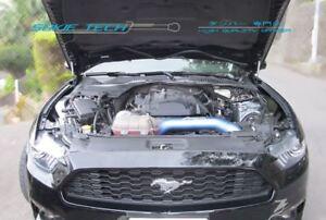 Black Strut Gas Lifter Hood Shock Stainless Damper Kit for 16-18 Ford Mustang GT