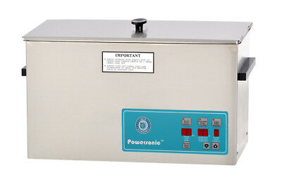 New Crest Powersonic P1200d-45 2.5 Gal Heated Ultrasonic Cleaner 1200pd045-1