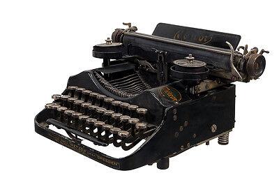 schöne alte kleine METEOR Reise- Schreibmaschine,  vintage Typewriter 20er Jahre