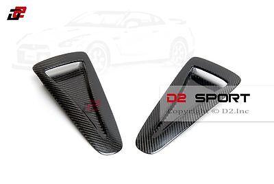 Carbon Fiber Hood Vents - Carbon Fiber Front Air Intake Bonnet Hood Vents Set for 08-16 Nissan GT-R R35