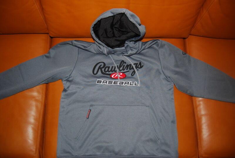 GRS-450 Rawlings Grey Youth Large Logo Hoodie Hooded Sweatshirt