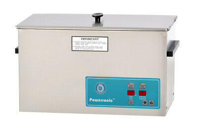 New Crest Powersonic P1200h-45 2.5 Gal Heated Ultrasonic Cleaner 1200ph045-1