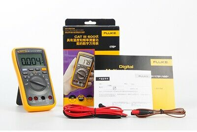 Fluke 17b Digital Multimeter Meter Tester Dmm With Tl75 Test Leads With Box