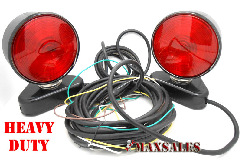 Portable Trailer Mounting Light Kit & Magnetic Base Tow Truck Trailer Heavy Duty