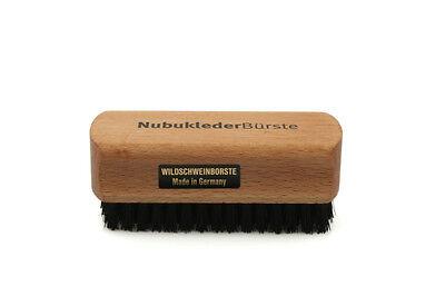 Redecker Nubuklederbürste Wildlederbürste Bürste für Wildleder schwarz z1748