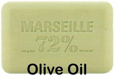 Pre de Provence OLIVE OIL 72% MARSEILLE 250 Gram French Soap Bath Shower Bar Olive French Soap