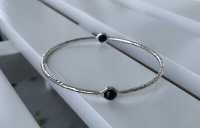 IPPOLITA Rock Candy 2- stone Bangle Bracelet Black Onyx - Stunning!