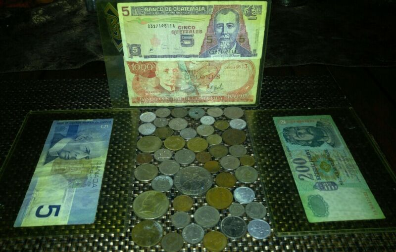ESTATE FIND CURRENCY COIN COLLECTION WORLDWIDE VINTAGE 1860 RARE LOT BILLS money