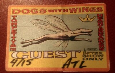 Tom Petty authentic1995 unused cloth Backstage Pass Dogs with Wings Tour Atlanta