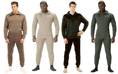 Rothco Extreme Cold Weather Polyester Long John Underwear With Zip Collar (Extreme Cold Weather Thermals)