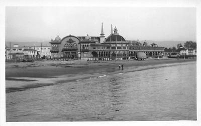 RPPC SANTA CRUZ, CA Casino & Beach Boardwalk ca 1920s Rare Vintage Postcard