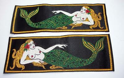 Vintage Set of Mermaid Liberty Cuffs, US Navy Vietnam Era Patches