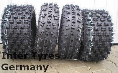 2x 21x7-10 P348 + 20x11-9 P357 ATV Quad Geländereifen Satz HAKUBA 20x11.00-9 gebraucht kaufen  Görlitz