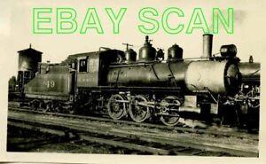 8C056 RP 1940s/70s? MINNEAPOLIS & ST LOUIS RAILROAD 0-6-0  ENGINE #49
