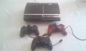 PS3 console with 25 games and  3 controls Baldivis Rockingham Area Preview