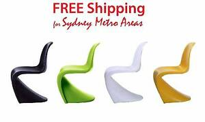 Last 4 - Multi-color Verner Panton Style Dining Chair (set of 4) Zetland Inner Sydney Preview
