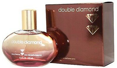DOUBLE DIAMOND 3.4 OZ EDP SPRAY FOR WOMEN NEW IN A BOX BY DOUBLE DIAMOND