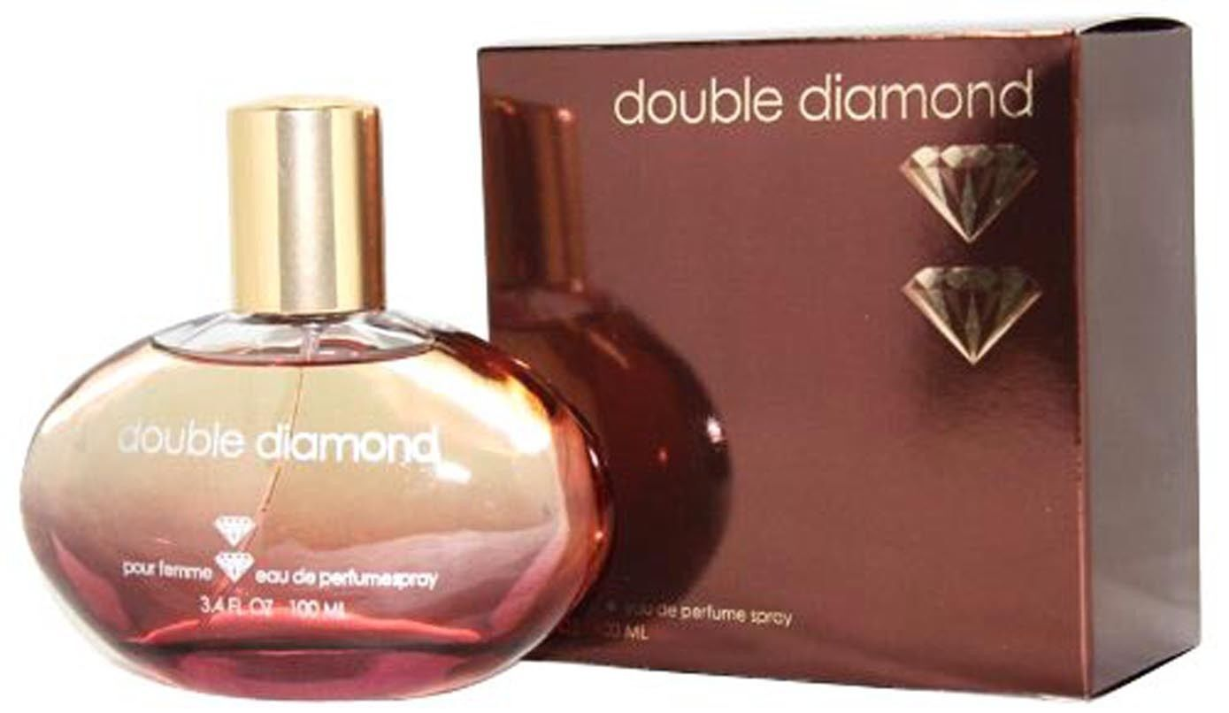 DOUBLE DIAMOND PERFUME FOR WOMEN 3.4 OZ / 100 ML EDP SPRAY, NEW IN BOX