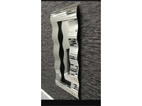 Large wave rectangular mirror modern