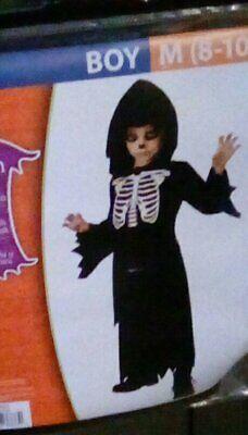 Halloween Dress Up For Boys (BOYS Dress Up Halloween Costume SKELETON ROBE ; New in Package Medium)