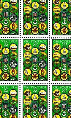 1987 - GIRL SCOUTS of the USA - #2251 Full Mint -MNH- Sheet of 50 Postage Stamps