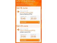 2x tickets Luton To Paphos