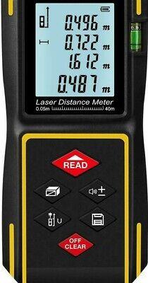 Urceri Laser Measure 131ft Digital Laser Distance Meter With Mute Function